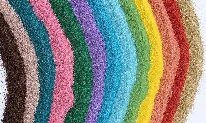 Цветной кварцевый песок для для наливных полов